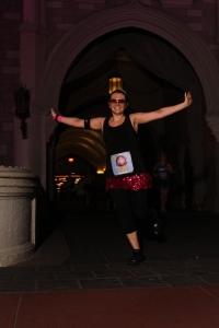 Princess Lisa running the 2013 Walt Disney World Princess Half Marathon