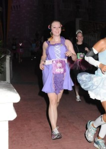 Princess Lindsey racing through the Magic Kingdom.
