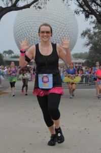 Princess Lisa heading for the finish line!