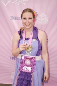 Princess Lindsey past the finish line.