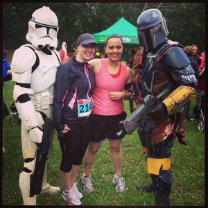 Hanging with guest Princess M and the Star Wars crew, pre-race.