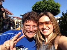 Sean Astin and Me in Downtown Disney