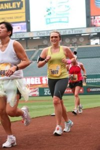Running DHM 2010--in the LA Angels Ballpark