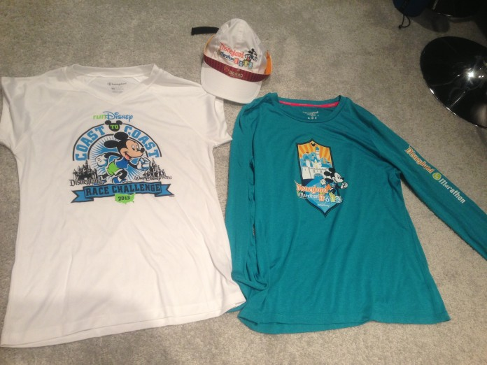 Coast to Coast Shirt, Long Sleeve DHM shirt, DHM Running Hat and a DDD Sweaty Band