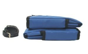 leg wraps folded