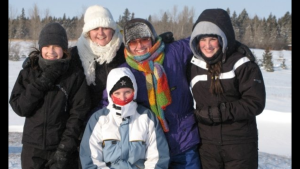 Sledding with Aussies and cousins in -40...after a blizzard