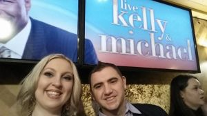 Yes! Barely showed up in time to make the cut-off for Kelly & Michael! Phew!