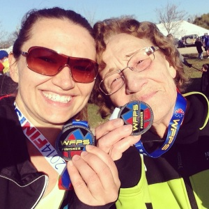 Grams celebrated her belated 80th birthday with a 22 minute improvement on her 10K time and winning her age group!