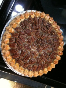 "First ""fancy"" Bourbon Pecan Pie - Christmas 2011"