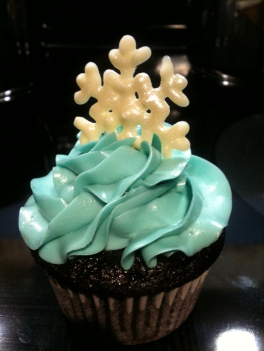 "My first ever ""fancy"" cupcake - Christmas 2011"