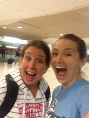 Meeting Kellie in the airport!