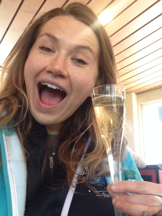 I pretty much drank champagne every day on this trip