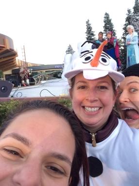 Frozen selfie at the frozen 5K