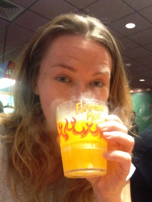 Drinking a Flaming Moe