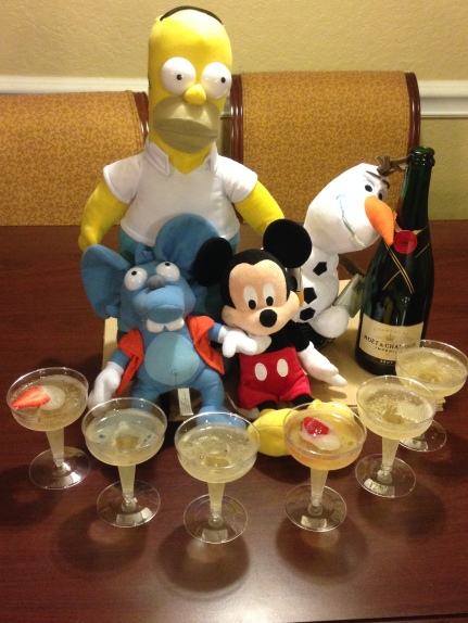 Race mascots and champers