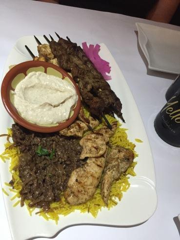 Lebanese Meat plate- YUMMMM!