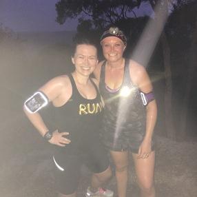 Running trails in the dark